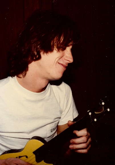 Dale Ockerman, back in the day, jamming out on the uke!